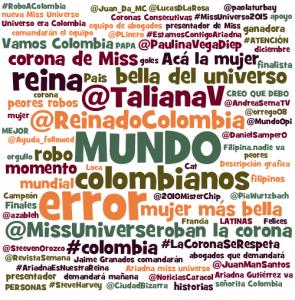 Términos más utilizados Miss Universo 2015